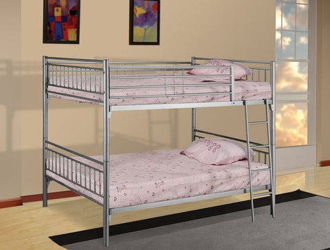 Silver Separable Metal Full Over Full Bunk Bed