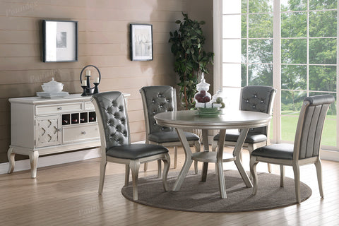 Metallic Silver 5 PC Dining Table Set - Furniture App Online by Furniture Assistant  a Furniture Store in York PA