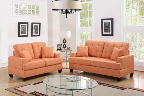 2 PC Citrus Polyfiber Sofa Set - Furniture App Online by Furniture Assistant  a Furniture Store in York PA