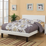Modern Cream Leather Platform Bed - Furniture App Online by Furniture Assistant  a Furniture Store in York PA