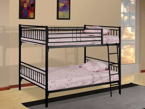 Black Separable Metal Full Over Full Bunk Bed - Furniture App Online by Furniture Assistant  a Furniture Store in York PA