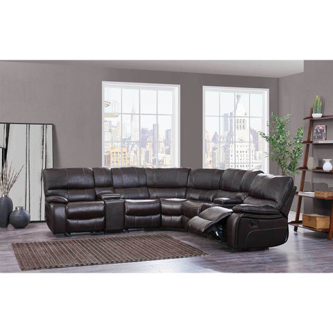 Espresso Black Leather Reclining Sectional - Furniture App Online by Furniture Assistant  a Furniture Store in York PA