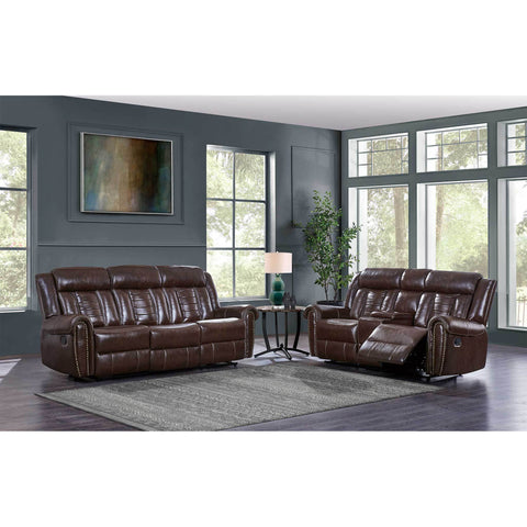 Modern Chocolate Leather Gel Reclining Sofa - Furniture App Online by Furniture Assistant  a Furniture Store in York PA