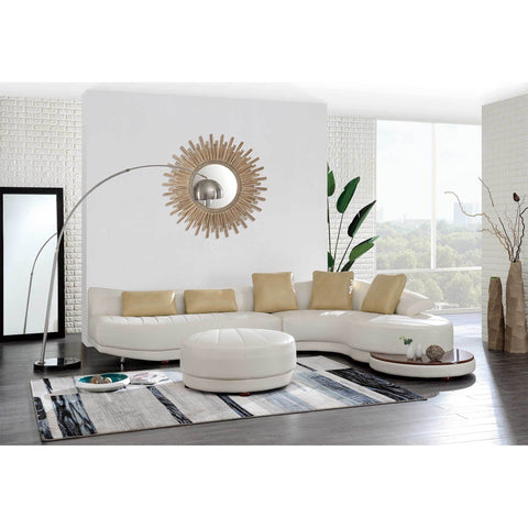 Blanche Milky/Ivory Sectional W/Ottoman & End Table - Furniture App Online by Furniture Assistant  a Furniture Store in York PA