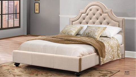 Cream Upholstered Bed - Furniture App Online by Furniture Assistant  a Furniture Store in York PA