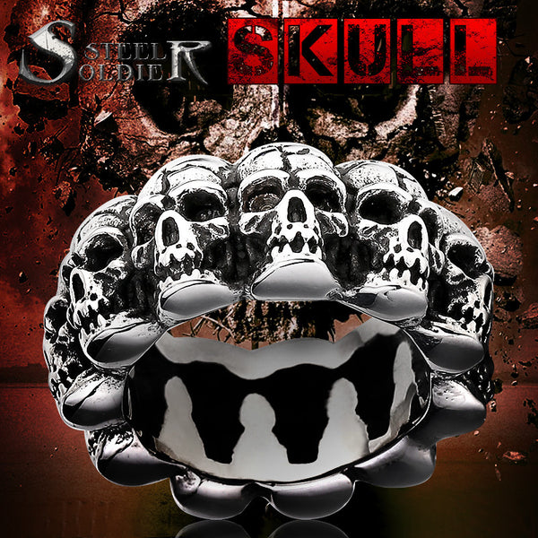Men's Stainless Steel Skull Ring