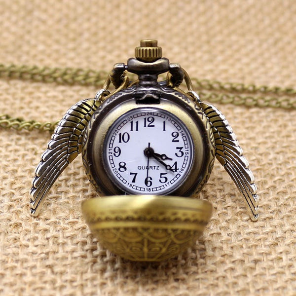 Golden Snitch Quartz Pocket Watch Necklace