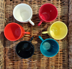 Unbreakable multicolor tea cups (Set of 6) - Color Revolution collection