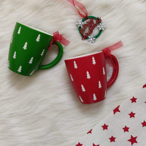 Unbreakable Christmas themed couple mugs (Set of 2 - 1 red & 1 green) - Christmas gifts for couples
