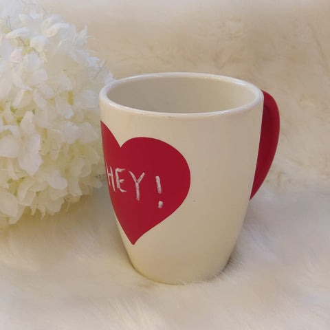 Unbreakable red heart white mug (Set of 1) - Valentines Day gift