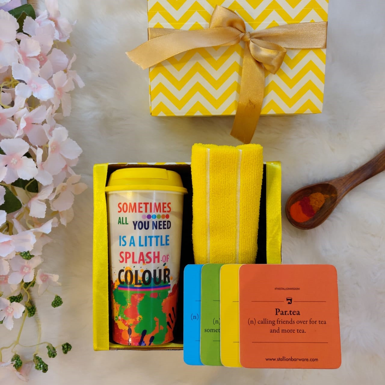 Holi gifts, Holi gift boxes, Colourful Sipper