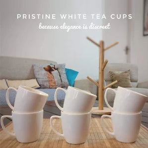 Unbreakable white tea cups (Set of 6)