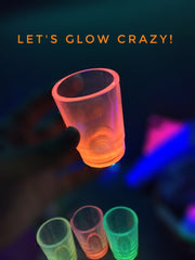 'YOU-WE' MAKES 'ME' GLOW - Glow in the Dark Shot Glasses - Rush 65ml - Pack of 6