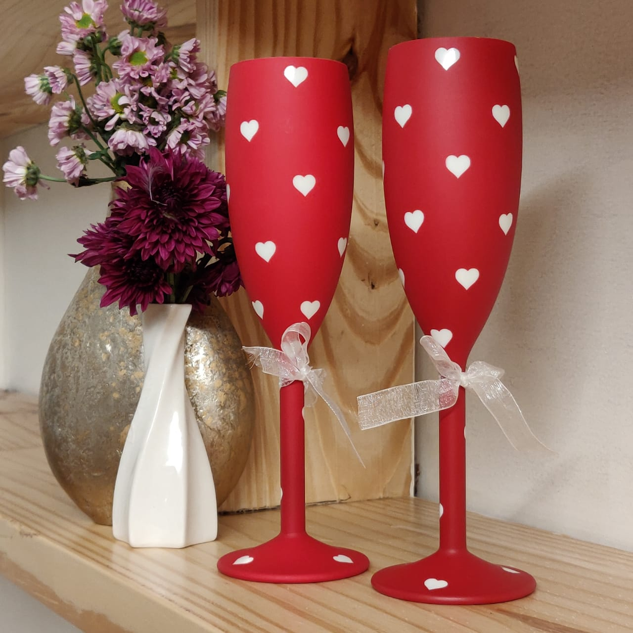 Truly Madly Deeply Unbreakable Champagne Flutes, set of 2