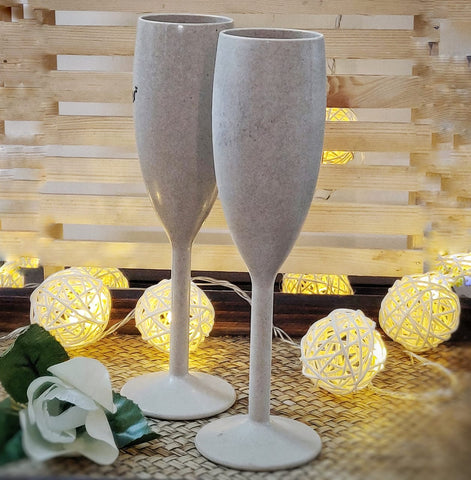 Rice Husk Champagne Glasses - Set of 2 (170 ml) Harvest