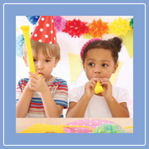 two children celebrating a birthday
