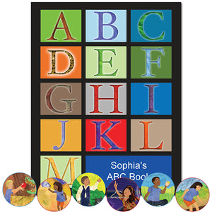 Personalized ABC Book for kids. Great for a bedtime story and learning the alphabet | First Time Books