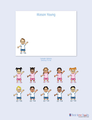 Personalized Note Cards for Boys