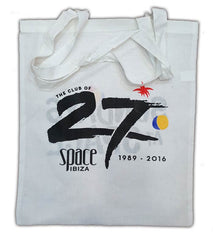 space ibiza 27th anniversary shopping bag black