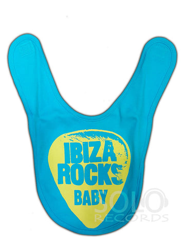 ibiza rocks baby bib blue
