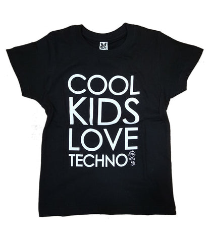Cool Kids love Techno Kids T-Shirt (Black)
