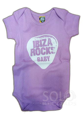 ibiza rocks baby grow body lila white