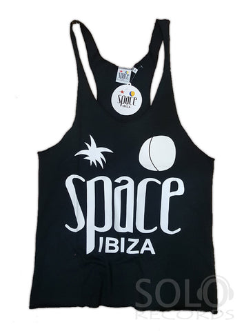 Women space ibiza gym vest black white