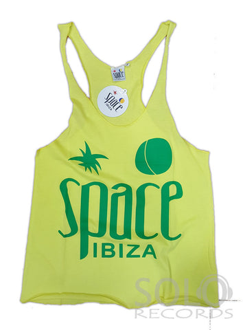 Women space ibiza gym vest yellow green