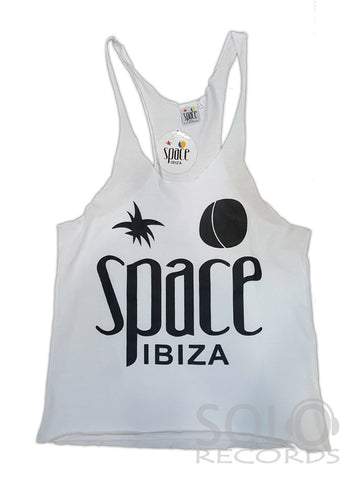 Women space ibiza gym vest white black