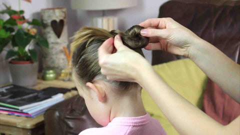 Wrap the pony tail into a bun