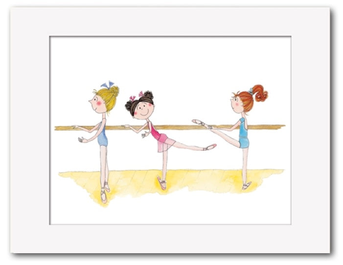 At The Barre Limited Edition Ballet Print By Rachel Ellen Designs Art Work For Dance Studio PDE Dance Supplies