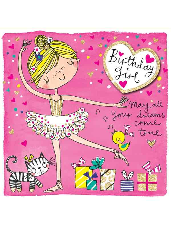 Ballerina Birthday Card Birthday Girl