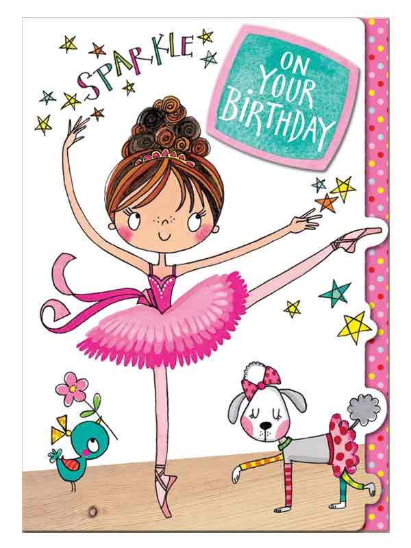 Ballerina Birthday Card Sparkle