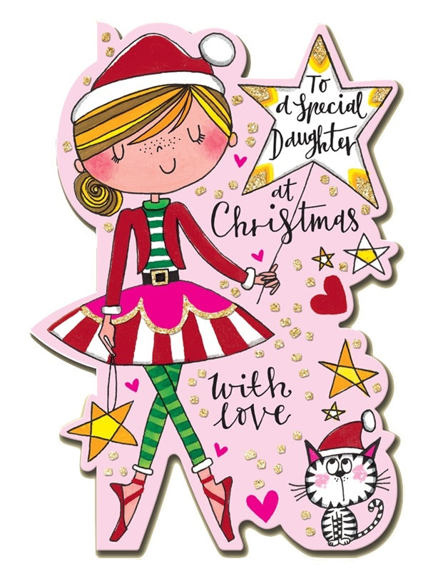 Ballerina Christmas Card Special Daughter