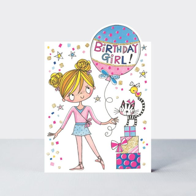 Ballerina Birthday Card Birthday Girl Rachel Ellen