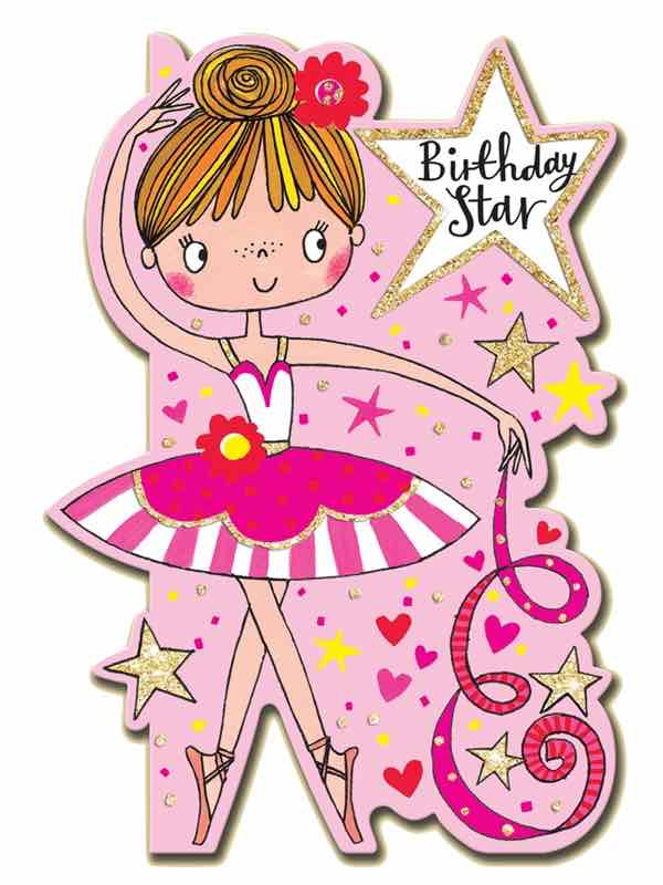 Ballerina Birthday Card Rachel Ellen Girls Ballet Cards PDE Dance Supplies Online Dance Shop