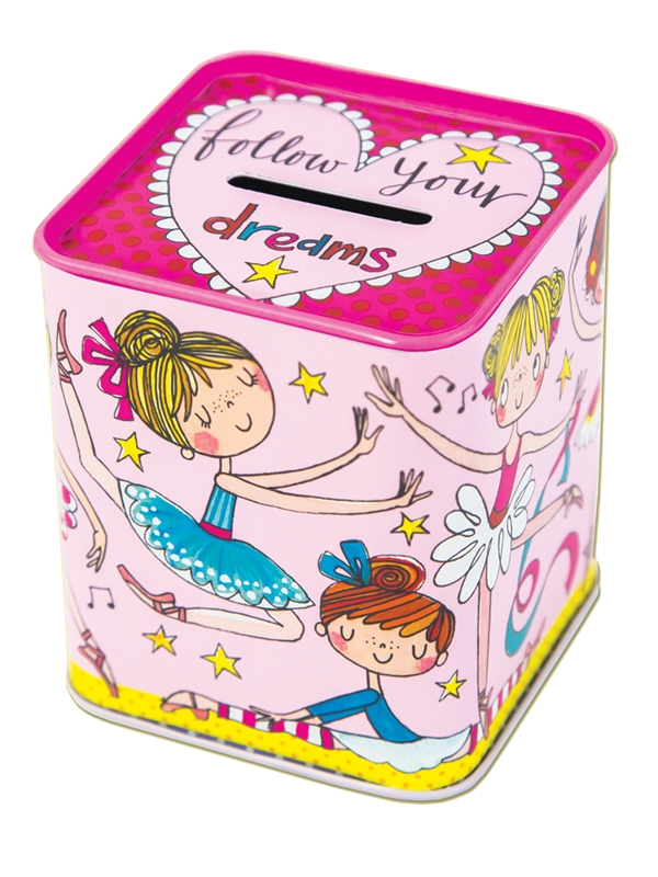 Childrens money box - follow your dreams girls ballerina money box by Rachel Ellen Designs