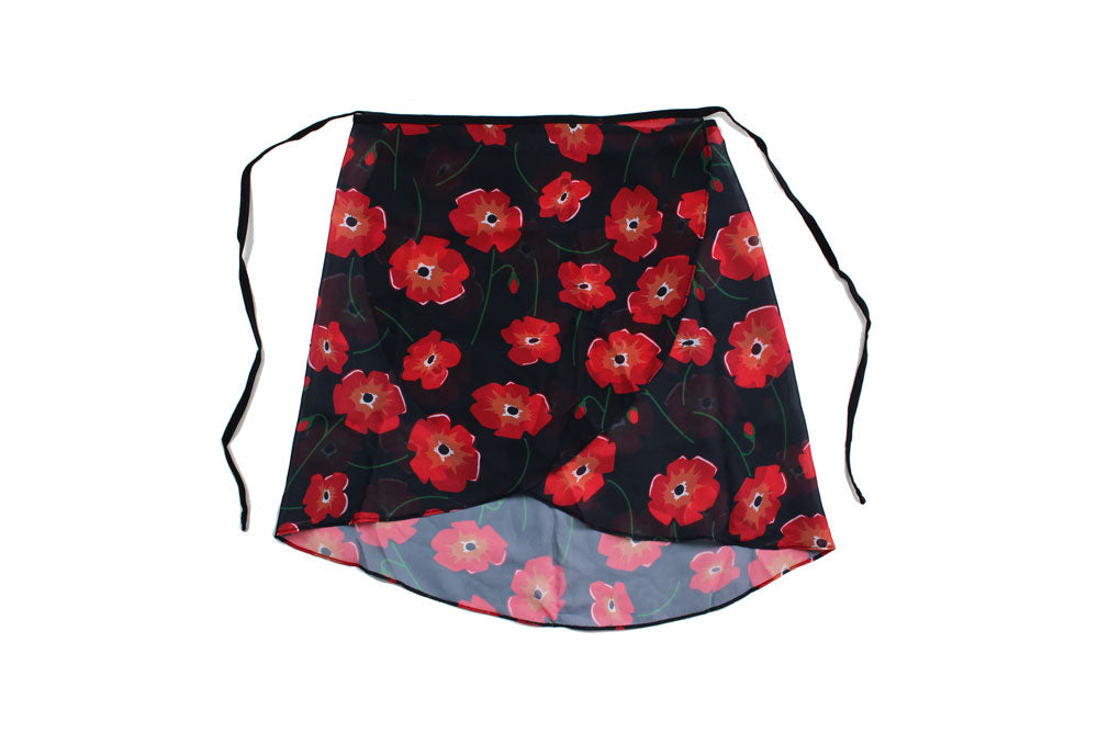 Ballet Skirt By Maewear Black Poppy