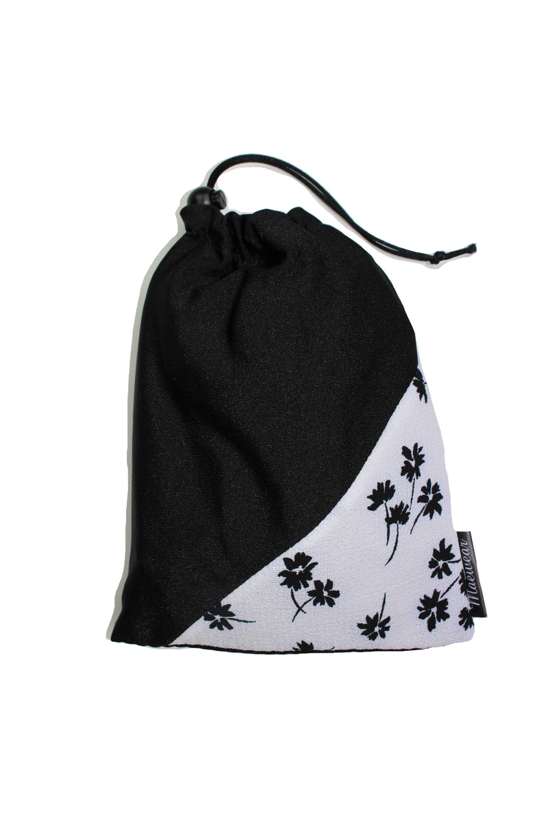Black Petals Ballet Skirt By Maewear Matching Bag - Classical Ballet Wrap Over Skirts