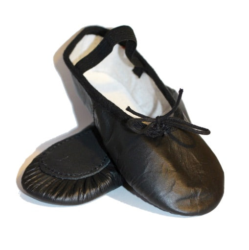 black leather ballet shoes for boys and girls child size 7 8 9 10 11 or 12