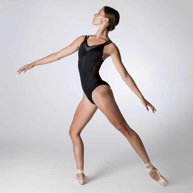 Black Camisole Leotard with Mesh Back by Dansez PDE Dance Supplies Ballet Leotards