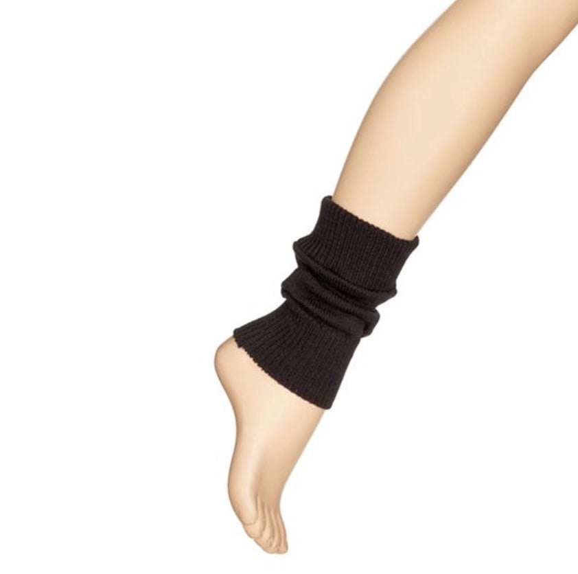 Black Dance Ankle Warmers by Starlite 17cm