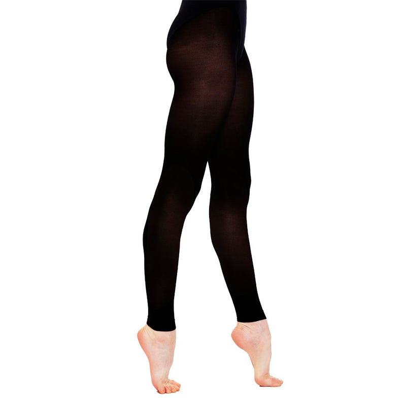 Black footless tights for dancers ballet tights dance tights PDE Dance Supplies.