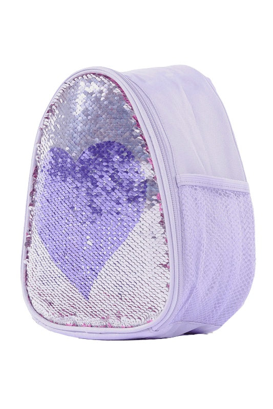 Capezio Reversible Glitter Backpack Lilac Heart