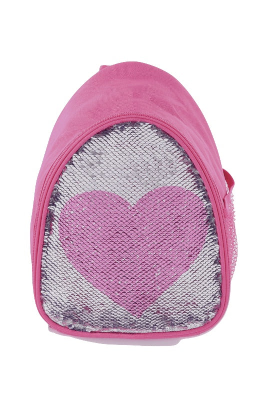 Capezio Reversible Glitter Backpack Pink Heart