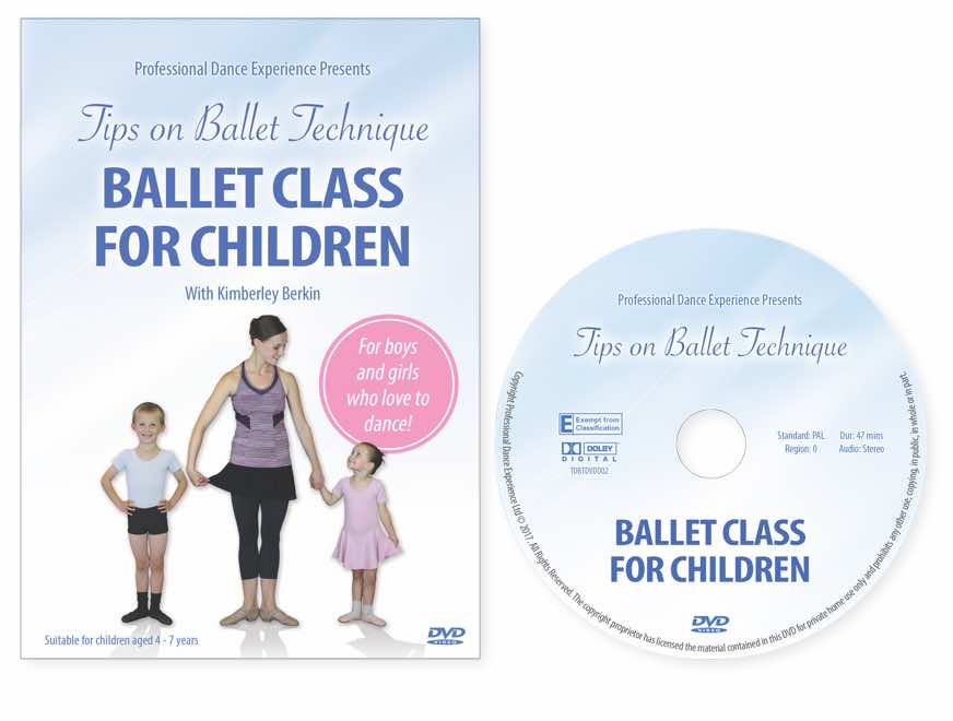 Ballet Class For Children DVD - for boys and girls aged 4 to 7 by Kimberley Berkin.