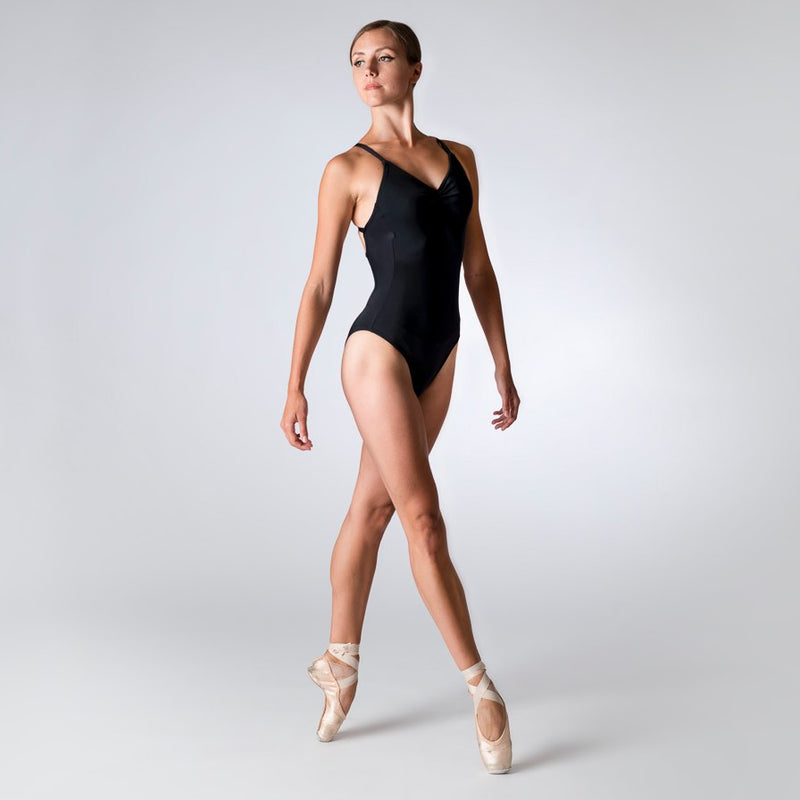 Ladies Criss Cross Back Camisole Leotard For Dance And Ballet By Dansez - Available in Purple Or Black