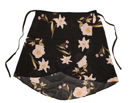 Floral Ballet Skirt By Maewear - Black Lilly