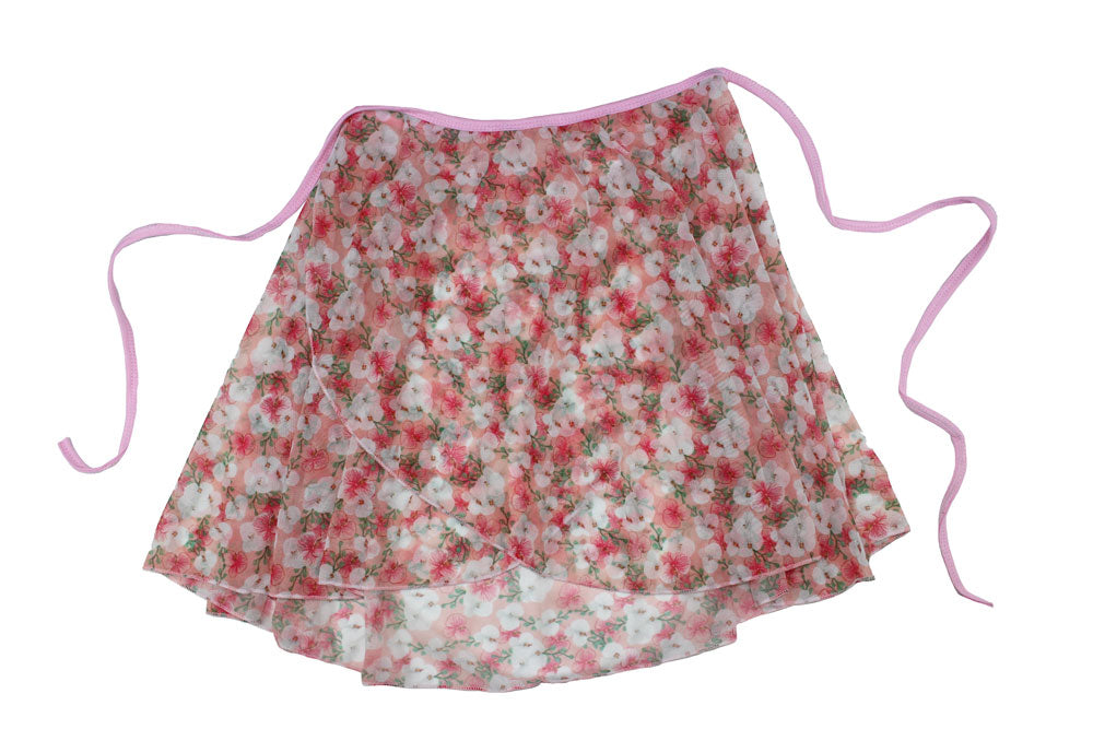 Floral Ballet Wrap Skirt By Tendu Aurora