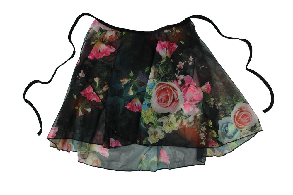 Floral Ballet Wrap Skirt By Tendu Kitri